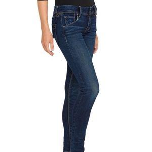 Hudson Collin Midrise Skinny Jeans Medium Wash